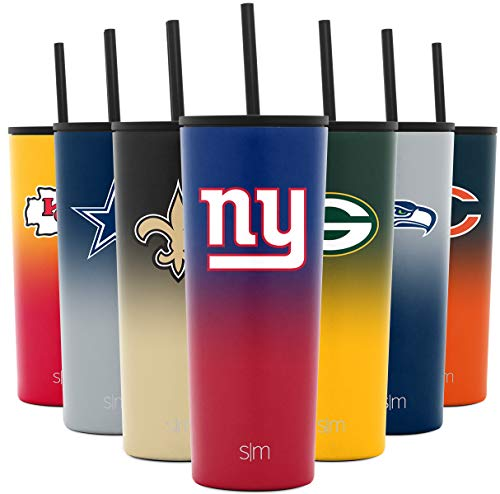 Simple Modern Licensed New York Giants 24oz Classic Tumbler, Gifts for Men Fathers Women Youth, Stainless Steel Vacuum Insulated Football Sports Fan Coffee Mug Merchandise Gear, Ombre