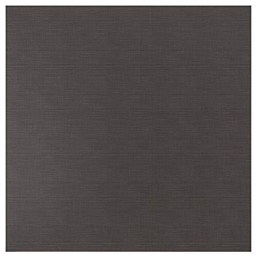 SIBBARP specialtillverkad väggpanel 1 m² x 1,3 cm mörkgrå linneeffekt/laminat