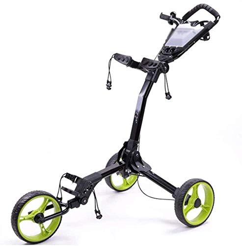 Trolley Carros de Golf Carrito de Golf con Marco de Aluminio Plegable de Scorecard Carrito de Golf de Golf Un Segundo for Abrir y Cerrar for Golfistas Junior Caddy Golf LQHZWYC (Color : Green)
