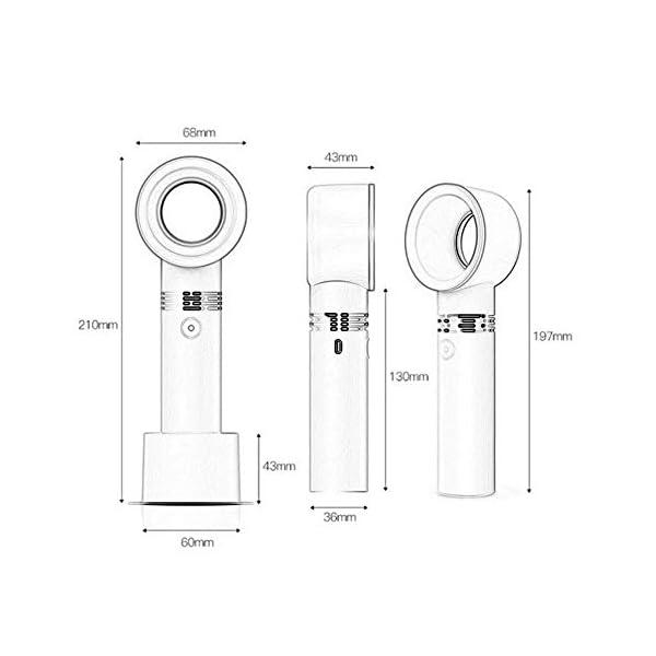 Tiantian-Sin-Ventilador-Mini-USB-porttil-Recargable-sin-Mover-Hoja-de-la-Pala-del-Ventilador-de-refrigeracin-con-Ventilador-de-la-Mano-de-Tres-velocidadesWhite