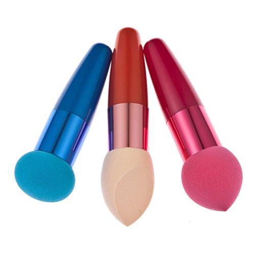 Frcolor 3PC Frauen Make-up Foundation Schwamm Lollipop Pinsel Concealer Schwamm Bürste