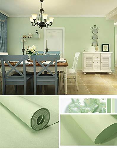 Wallpaper - Carta da parati in tessuto non tessuto, tinta unita, per soggiorno, camera da letto, cameretta dei bambini, corridoio o cucina (verde fagio)