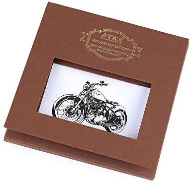 1pc White Motorbike Men's Handkerchief in Gift Box - Bike, Car, Motorbike, Mens Handkerchiefs, Fashion Accessories
