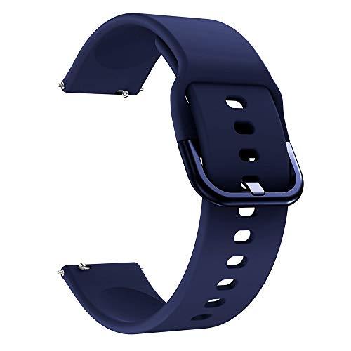 Pulseira Moderna 22mm compatível com Samsung Galaxy Watch 3 45mm - Galaxy Watch 46mm - Gear S3 Frontier - Amazfit GTR 47mm - Huawei Watch GT 2 46mm - Marca LTIMPORTS (Azul Marinho)