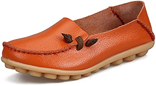 Chaussures Plates Femme,vintage Original Fermé Toe Ronde Occasionnels Couture Simple Doux Confortable En Cuir Naturel flaneuses En Caoutchouc Souple Chaussures Chaussures Bateau Chaussures Basses O
