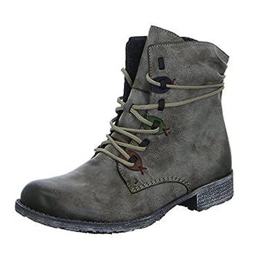 Rieker Womens Zipper Boots Cigar/Brandy/Leaf/Navy/Black (7.5 M US)