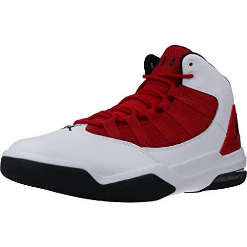 Nike Jordan MAX Aura, Sneaker Hombre, Blanco/Negro-Gym Red, 42 EU