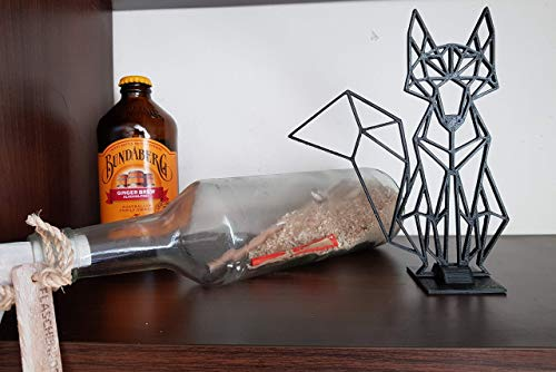3D-Origami Origami Figur Wand-Deko Aufsteller - Motiv Fuchs Maße 15x19 cm