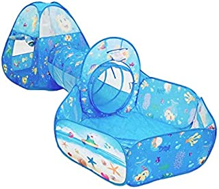 Foldable Tunnel Tent Toy Ball Pool Pits Ocean Series Cartoon Play Game Crawling House Portable Toys For Children Baby Kids