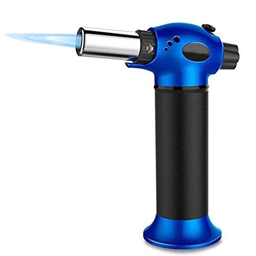 QINAIDI Flame Gun Torch - Butan Feuerzeug, Brennende Fackel, Strom Ignite Outdoor Gas Fackel, Camping BBQ Löten Schweißwerkzeug,Blue