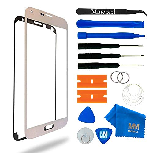 MMOBIEL Front Glas Reparatur Set kompatibel mit Samsung Galaxy S5 G900 / S5 Neo G903M (Weiß) Display mit Werkzeug-Set