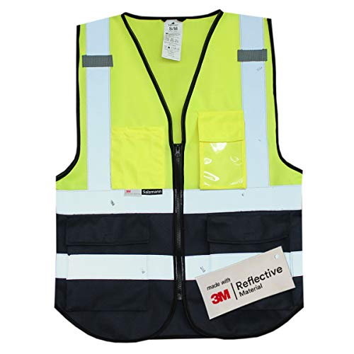 Salzmann 3M Multi-Pocket Safety Mesh Vest | High Visibility Reflective Mesh...