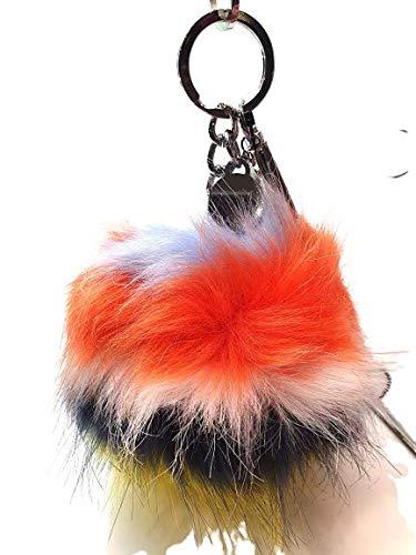 Guess - Llavero para mujer, diseño de pompón con mosquetón, color azul