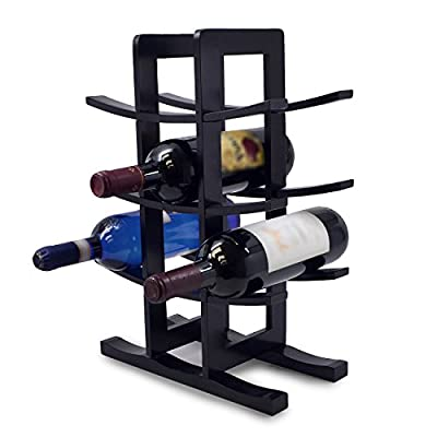 Sorbus Bamboo Wine Rack - Holds 12 Bottles of Your Favorite Wine - Sleek and Chic Looking Wine Rack