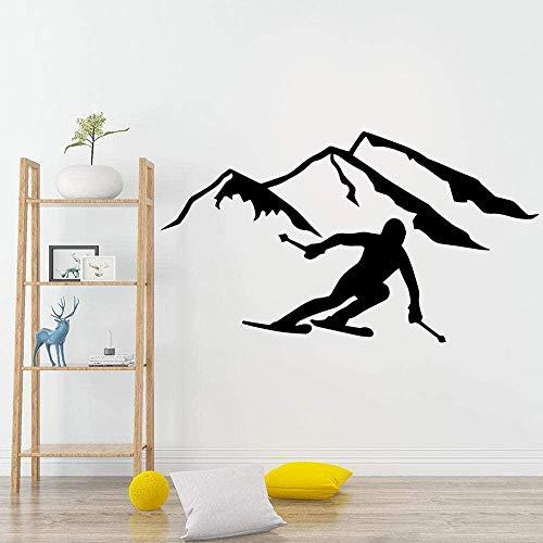 Deportes modernos protección del medio ambiente etiqueta de vinilo extraíble etiqueta de la pared mural mural 53x87cm