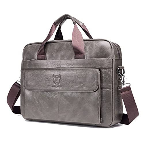 cuero hombro capa superior negocios hombres mensajero cuero maletín portátil Anno ordenador