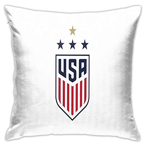 USWNT Us Womens National Soccer Team Home Decorative Throw Pillow Covers Bed Sofa Couch Cushion Square Pillow Case 18x18 Inch