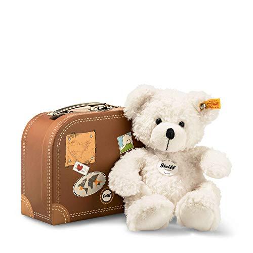 Steiff 111464 Teddyb. Lotte 28 wit met koffer beer