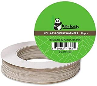 Karlash Pot Wax Warmer Clean Premium Collars Fits Most 14 oz can Warmer (Pack of 50)