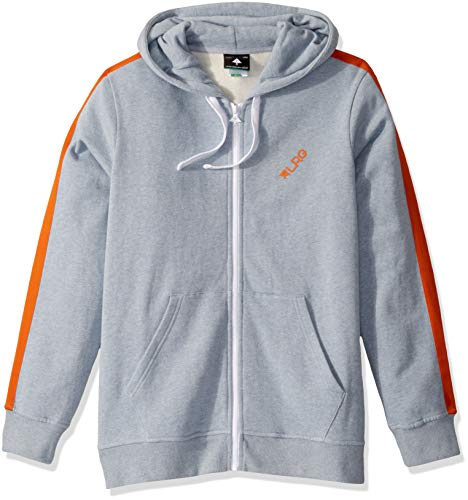 LRG Men's Lifted Research Collection Zip Hoodie, Blue Snow Heather, L