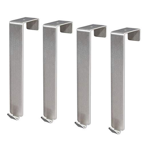 Sus304 Puerta de acero inoxidable Puerta de espalda Proceso de dibujo blanco y negro Fácil de instalar 4pcs multifuncionales-C1 resistente a la corrosión fácil de limpiar e higiénico