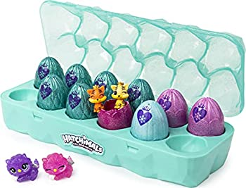 Hatchimals CollEGGtibles Jewelry Box Royal Dozen 12-Pack Egg Carton with 2 Exclusive Hatchimals  Styles May Vary
