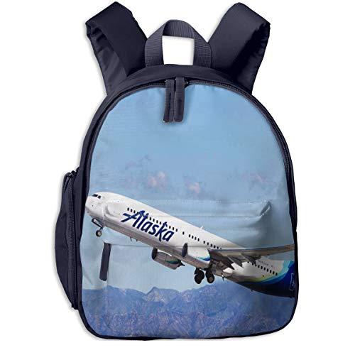 Mochila para Niños Aviones USA March Airlines, Mochila Escuela Primaria de Edad Peso Ligero Pérdida Mochila de Viaje para Chico Chica