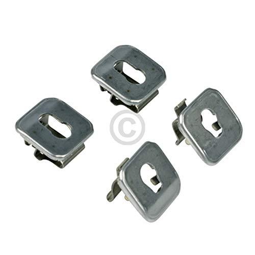 Juego de cojinetes de repuesto para Bosch 00631174, juego de 4 piezas para rejilla de montaje en pared derecha izquierda y horno