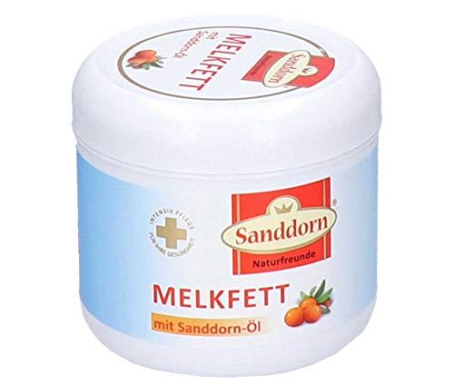Naturfreunde Sanddorn Melkfett mit Sanddorn-Öl | Melkfett - ein bewährtes Hautschutzmittel | Hand & Fußpflege