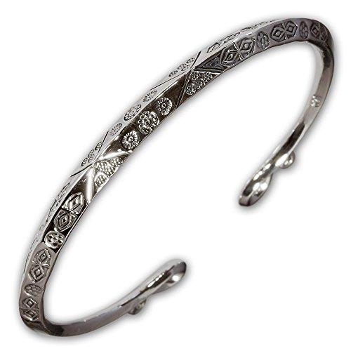 Fly Style Wikinger Armreif Lathgertha aus 925 Silber - Handgeschmiedet im antiken Design