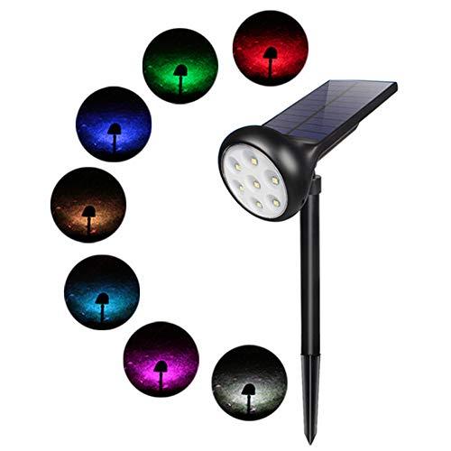 Harddo Solar Spotlight, 7 leds met kleurverandering, waterdicht, outdoor, ultra helder, veiligheidsverlichting, tuinlamp voor terrasdecoratie, eenvoudige installatie zonder kabel