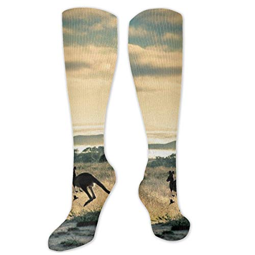 Calcetines de poliéster y algodón por encima de la rodilla, retro, unisex,...