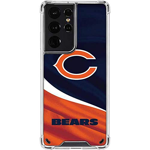 Skinit Clear Phone Case Compatible with Galaxy S21 Ultra 5G - Officially Licensed NFL Chicago Bears Design