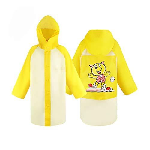Z-Brand kinderregenjas regenjas voor kinderen kind boy girl regenjas kinderen poncho schattige unisex regenjas voor jongens en meisjes (kleur: A, maat: 74 * 92 * 50cm)