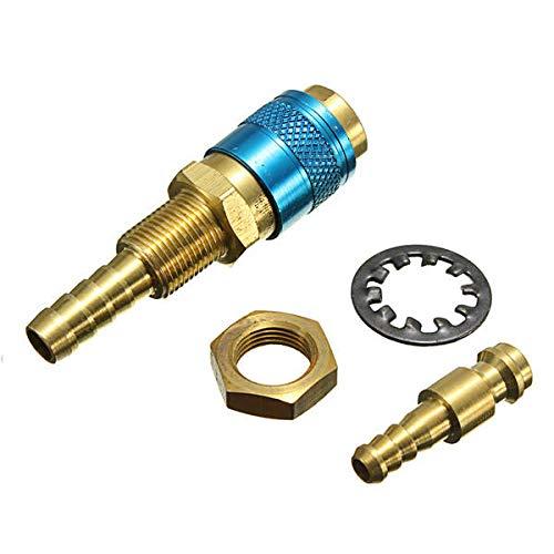 Equipos de soldadura Conector de ajuste de conector rápido de agua de gas para la antorcha de soldador (Color : Blue)