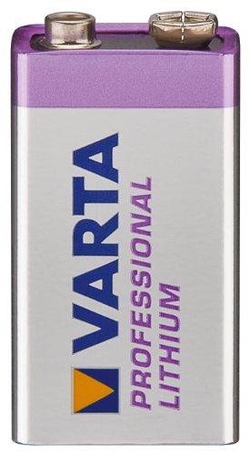 5er Set Batterie Lithium 9-Volt Block Varta (6122) - Professional Lithium