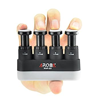 Finger Strengthener,4 Tension Adjustable Hand Grip Exerciser Ergonomic Silicone Trainer for Guitar,Piano,Trigger Finger Training Arthritis Therapy and Grip Rock climbing  AHF-03