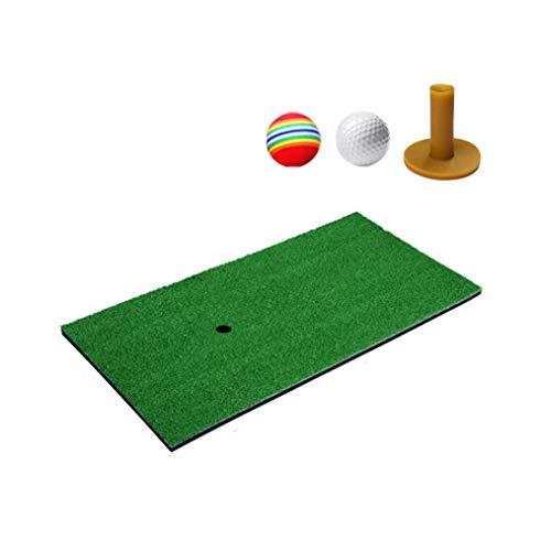 CLHCilihu Golf Grass Putting oefenmat met thee, witte bal, golfspons bals om te slapen voor tuinen outdoor golf opleiding