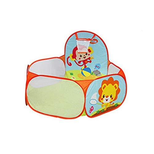 CSQ Bola de piscina de dibujos animados, cubierta de la bola del hoyo Exclusivo Pop-up juegos al aire libre Bola de piscina del bebé con la cesta, multifunción retráctil jugar al billar Casa de juegos