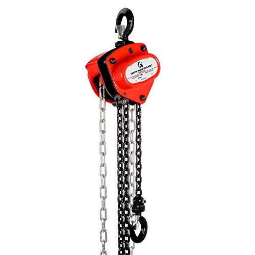 G Palanca de polipasto de cadena manual con capacidad de 500 kg, 3 m de altura, gancho de carga de acero comercial para levantar y tirar