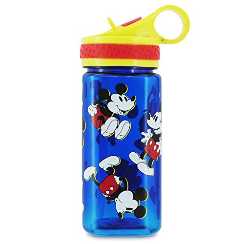 Disney Mickey Mouse Water Bottle with Built In Straw
