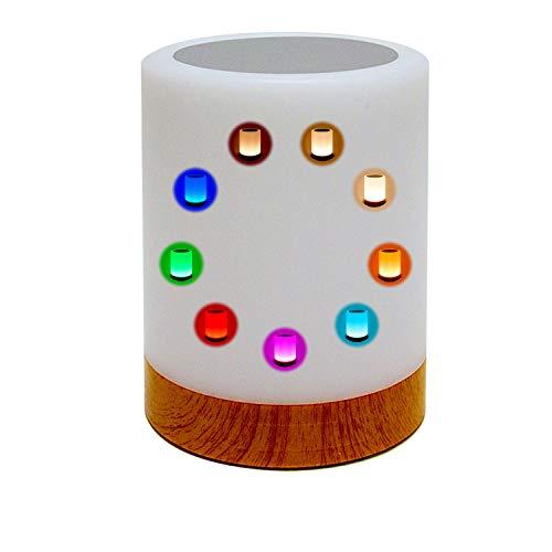 Lámpara de mesa LED. Lámpara decorativa táctil LED con luz blanca. Lámpara RGB pequeña con colores, recargable por cable USB y con diseño moderno para decoración de terraza, habitación, salón o jardín