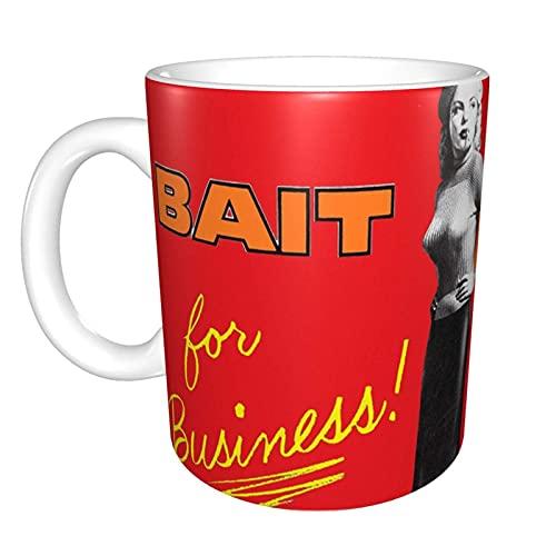 Hdadwy Cleo Moore Bait Movie Poster Red Hot Bad Girl Blonde Bombshell 2 Taza de té de cerámica para el hogar Taza de café de oficina 10 oz