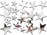 Arichtop 20pcs / Set Forma de Estrella del Espejo Pegatinas 3D acrílico...