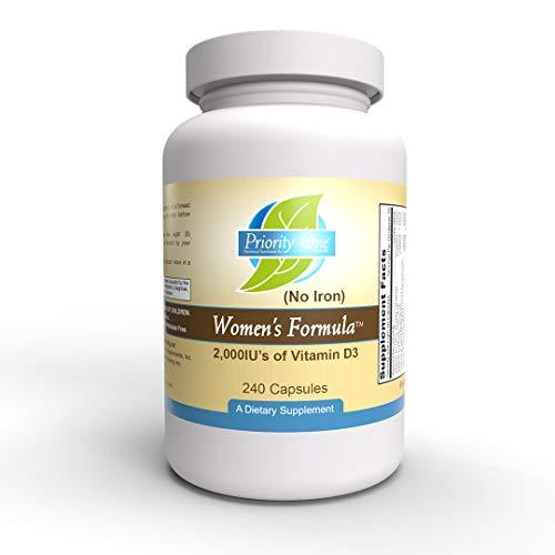 Prioridad Uno vitaminas Mujer fórmula no planchar 240°Cápsulas–Multivitamínico y mineral Suplemento para mujeres de amplio espectro para un sistema reproductivo saludable.*