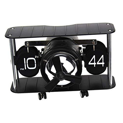 BENGKUI Mesa de Escritorio Página Abajo Reloj operado por Engranaje Interno Modelo de Aeroplano Retro Reloj Giratorio Retro para decoración de Pared de Escritorio de Oficina en casa, 2