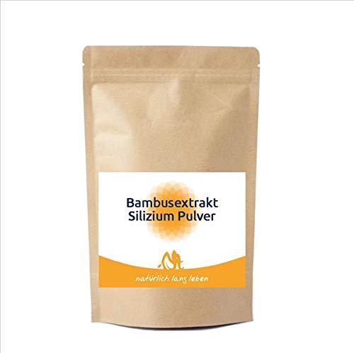 Bambusextrakt Silizium Pulver 100 g ohne unnötige Zusatzstoffe, natürliche Siliciumquelle, Natur pur, Kieselsäure