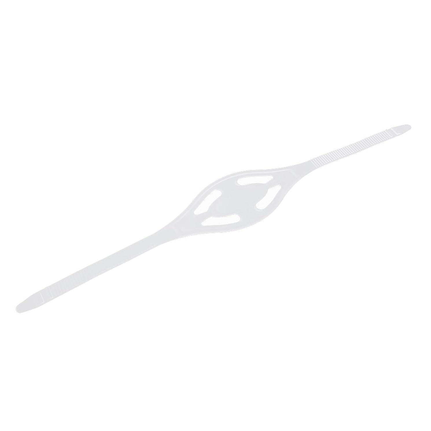 支援する割り当てる力Dovewill シリコン マスクストラップ マリン ダイビング シュノーケリング 快適性 2色2サイズ選べる - クリア, L