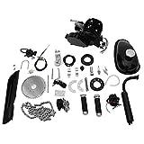 Lanhui 80cc Bicycle Engine Kit, 2-Stroke Gas Engine Motor Kit DIY Motorized Bicycle Motorized Bike Parts,Full Set Black Cycle Petrol Gas Motor Engine Kit for Bike Motor Bicycle Motorized