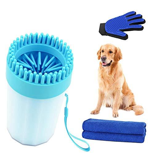 Hond Paw Cleaner 2 in 1, Cleaner & Groomer ﺮ 2 GRATIS GIFTS/Hond Paw Cleaner 2 in 1, Cleaner & Groomer ** 2 GRATIS GIFTEN ** Grooming Handschoen & Handdoek, Zachte Effectieve Reiniging, Echo Vriendelijk – BPA gratis, (16cm x 9cm) Schoon, Groom, Massage. Blauwe Grooming Handschoen & Handdoek, Zachte effectieve reiniging, Echo vriendelijk – BPA-vrij, (16cm x 9cm) schoon, Groom, Massage. Blauw